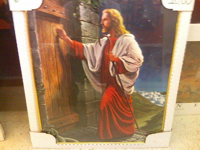 Framed poster of Jesus Christ-glass front