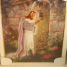 jesus Christ knocking on door poster-framed/with glass