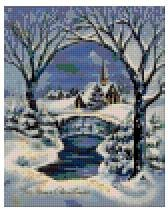 Church in Snow 4BP - PIXEL Download Pattern-3 available