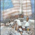 USA  Romantic Snowtown-9BP Pixel Pattern DL - 3 available