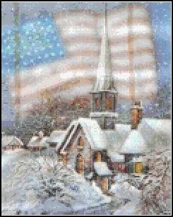 USA  Romantic Snowtown-9BP Pixel Pattern DL - 3 available