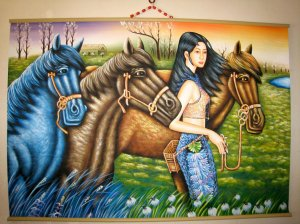 The living & life of the Chinese minority is expressing by art