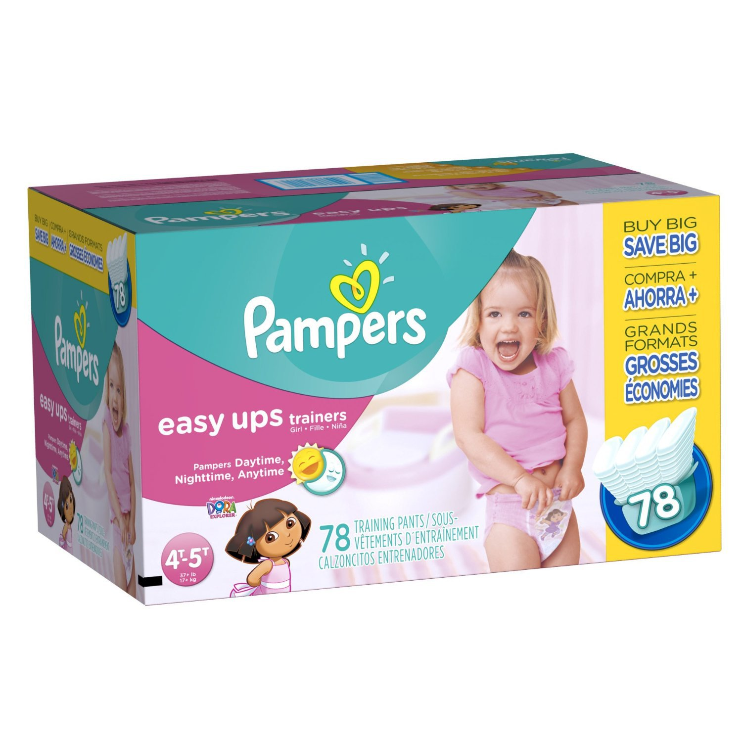 Pampers Easy Ups Girls Size 4T-5T Value Pack 78 Count ...