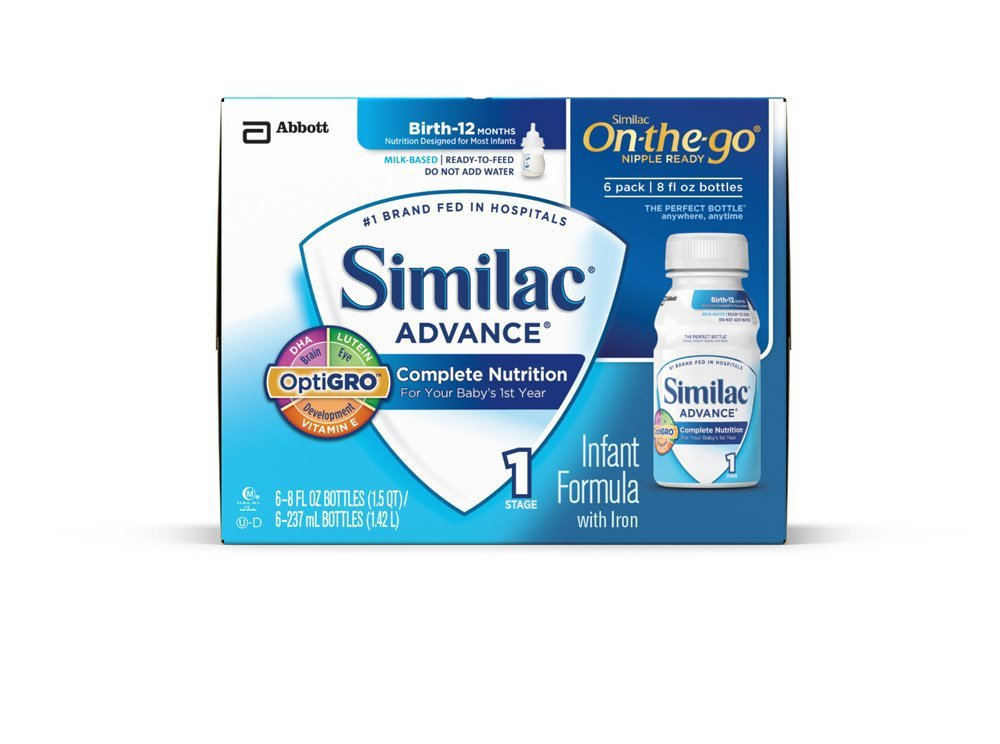 Similac Advance Early Shield Infant Formula, Ready to Feed Bottles 24 - 8oz bottles (FREE SHIPPING)