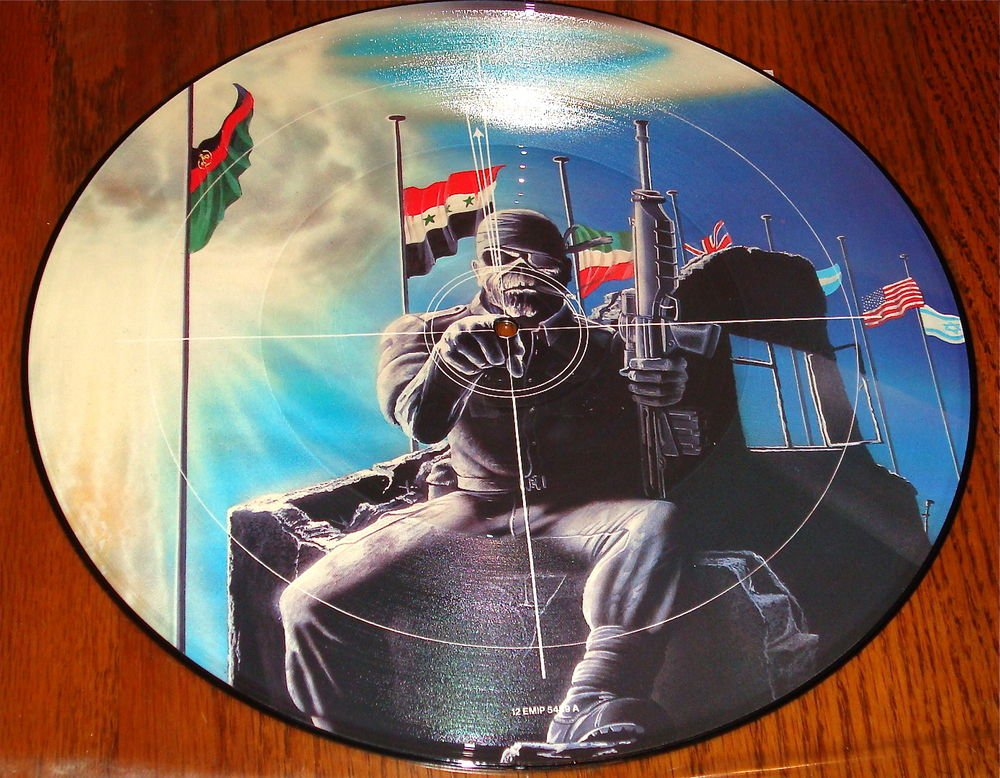 """IRON MAIDEN 2 Minutes to Midnight 12"""" PICTURE DISC IMPORT UK EMI"""