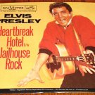 ELVIS PRESLEY  JAILHOUSE ROCK/HEARTBREAK HOTEL GOLD COLORED VINYL PIC SLV & 45