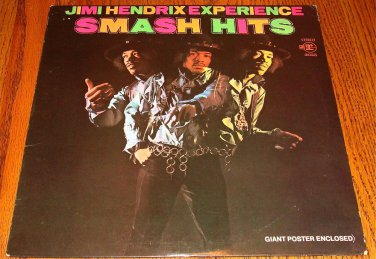 JIMI HENDRIX EXPERIENCE SMASH HITS LP WITH GIANT POSTER