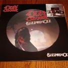 OZZY OZBOURNE BLIZZARD OF OZ Picture Disc LP