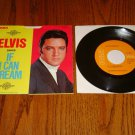 ELVIS PRESLEY If I Can Dream Picture Sleeve & Orange Label 45 rpm  1969