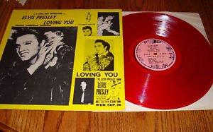 ELVIS PRESLEY  LOVING YOU RED COLORED VINYL LP