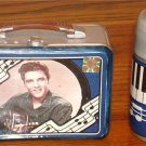 ELVIS PRESLEY LUNCHTIME  SALT AND PEPPER SHAKERS W/TIN