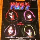 KISS SET OF 4 BUTTONS ON CARD     AWESOME!