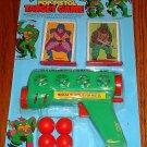 Teenage Mutant Ninja Turtles Pop Pistol Target Game Sealed on Card
