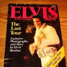 Elvis A Pictorial Tribute THE LAST TOUR  Folded Poster