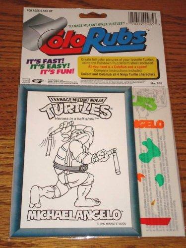Teenage Mutant Ninja Turtles ColoRubs MICHAELANGELO !