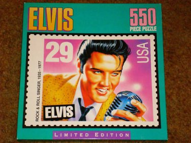 ELVIS 550 PIECE PUZZLE  STAMP PICTURE  SEALED !