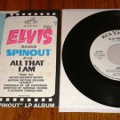 ELVIS PRESLEY Spinout  Picture Sleeve with 45 rpm