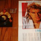 DAVID CASSIDY SHAPED PICTURE DISC WITH POSTER CALENDAR