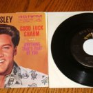 ELVIS Good Luck Charm Picture  Sleeve & 45 rpm