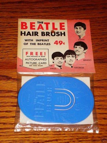 BEATLES ORIGINAL HAIR BRUSH STILL SEALED W/ HEADER CARD
