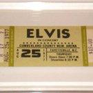 ELVIS CONCERT TICKET CUMBERLAND COUNTY MEM ARENA 8/1977