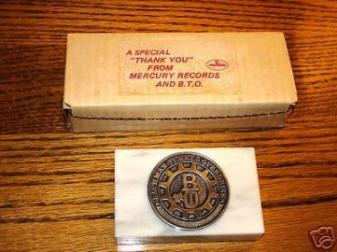 Bachman Turner Overdrive BTO Promo Marble Paper Weight