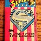 SUPERMAN III Topps Sealed Wax Pack 1983