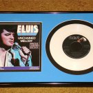ELVIS PRESLEY FRAMED PICTURE SLEEVE WITH WHITE COLORED VINYL 45 UNCHAINED MELODY