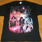 KISS GROUP PICTURE ON STAGE WITH INSTRUMENTS T-SHIRT BRAND NEW SIZE EX-LARGE!