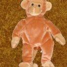 Retired Ty Original Beanie Babies Plush BONGO The MONKEY  - 1995 Mint