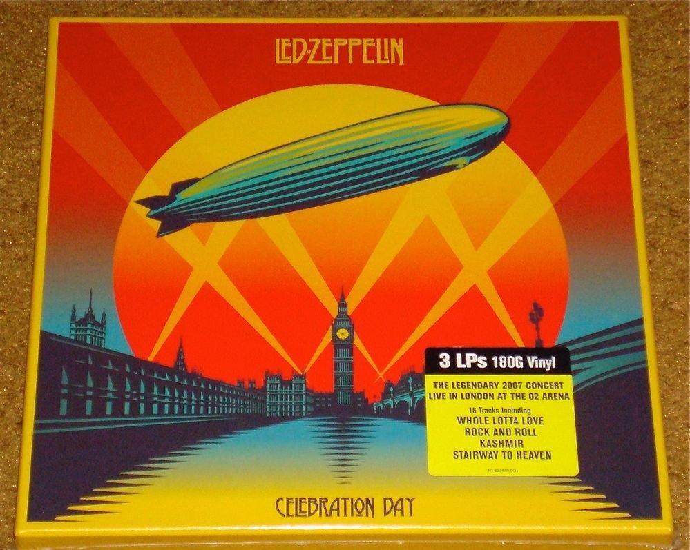 LED ZEPPELIN CELEBRATION DAY 3 LP 180-GRAM VINLY BOX SET STILL SEALED