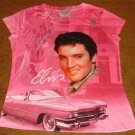 ELVIS PINK CADILLAC MISSY CREW NECK SHIRT DOUBLE-SIDED NEW!