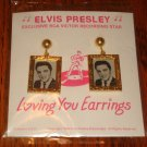 ELVIS PRESLEY EARRINGS DATED 1956 SEALED  FREE USA SHIPPING!