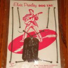 ELVIS PRESLEY DOG TAG ON ORIGINAL CARD