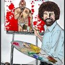 Bob Ross  GG Allin variant   Amaral Cartoons Poster