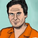 Ted Bundy   Serial Killer    Amaral Cartoons Poster