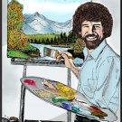 Bob Ross  Amaral Cartoons Poster