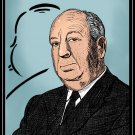 Alfred Hitchcock  Amaral Cartoons Poster