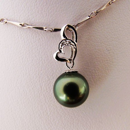 Sea Water Daxi Pendant 9.5 mm Peacock Green