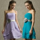 SD8066  Free Shipping New Bridesmaid Wedding Gown Prom Ball Evening Dress Size 6-8-10-12-14