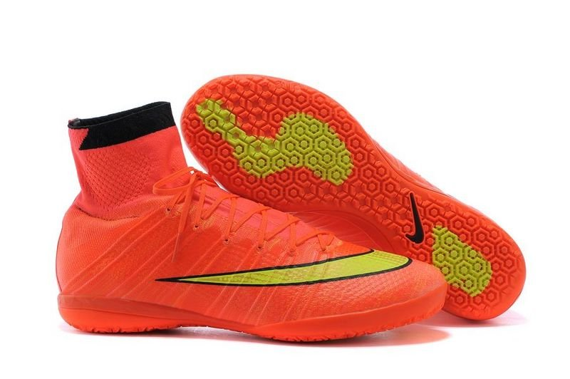 b413ffc60bbc SIZE 8 Free Shipping elastico Nike mercurial High Cleats Red Futsal shoes  WITHOUT BOX