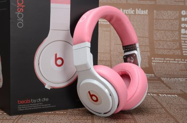 199 Headphones Studio Wired Beats By Dr Dre Pro Pink White Free Shipping