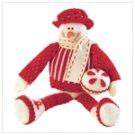 Sitting Snowman Plush Figurine