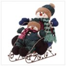 Snowman Kids On Sleigh