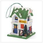 Merry Christmas Wood Birdhouse