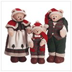 Festive Santa Bear Family