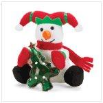 Christmas Plush Snowman with Gel