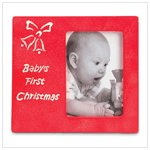 'Baby's First Christmas' Picture Frame
