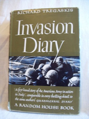 Author Vg >> Invasion Diary Richard Tregaskis Author 1st Edition 1st Printing