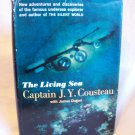 The Living Sea. Captain J. Y. Cousteau, author. BOMC Edition. VG+/VG-